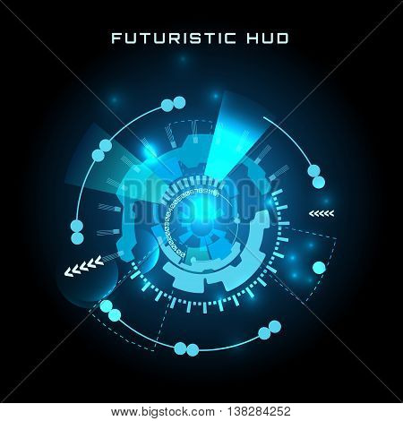 vector  illustration of Futuristic interface HUD,  background.