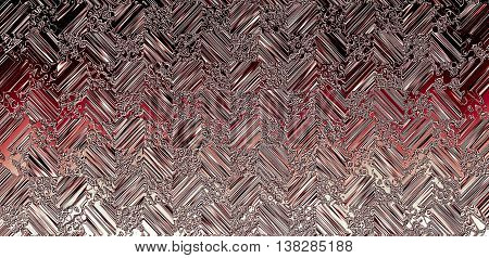 on a silver background with a piece of black squares pattern with blurred drops, spots and stripes, red