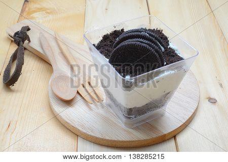 Oreo cheesecake, cookies and cream, cupcakes, homemade.