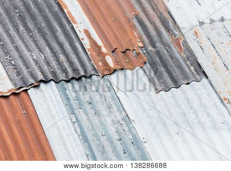 Old rusty roof in need of some maintenance