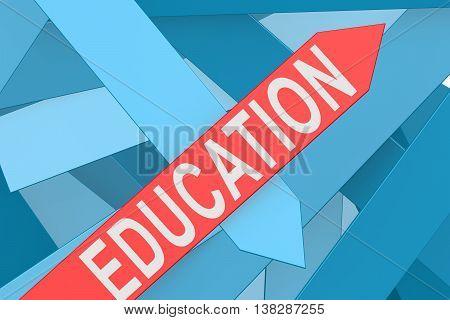 Education Arrow Pointing Upward