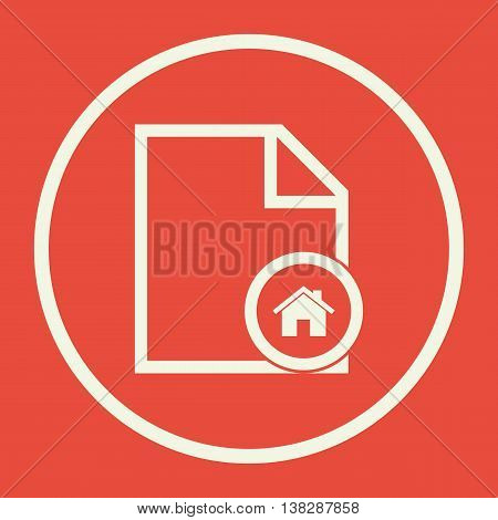 File Home Icon In Vector Format. Premium Quality File Home Symbol. Web Graphic File Home Sign On Red