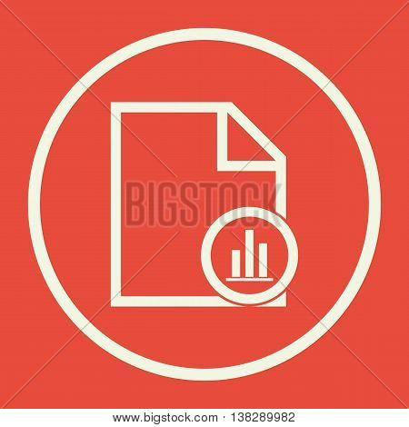 File Stats Icon In Vector Format. Premium Quality File Stats Symbol. Web Graphic File Stats Sign On