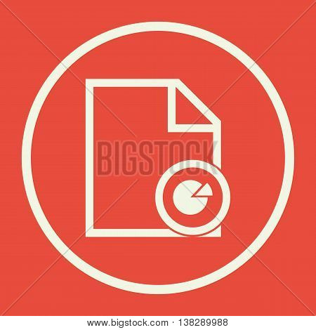 File Pie Icon In Vector Format. Premium Quality File Pie Symbol. Web Graphic File Pie Sign On Red Ba