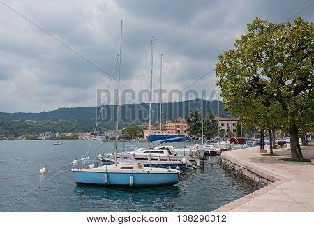 Lakeside Promenade Salo With Sailboats