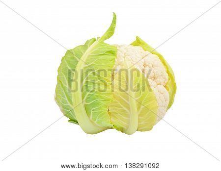 Cauliflower On White