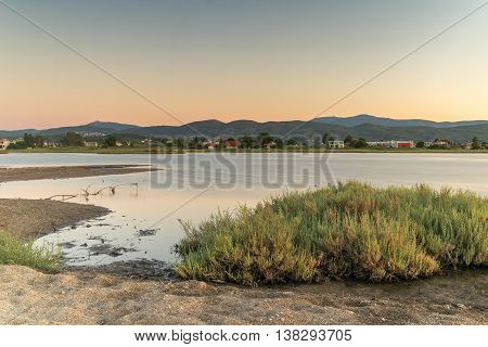 Wetland at Oropos in Greece. A beautiful touristic destination.