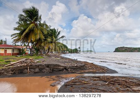 After the storm on the island of Grenada