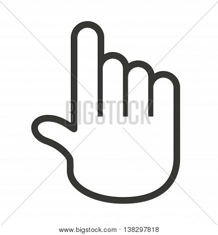 Computer mouse hand pointer isolated icon design, vector illustration  graphic