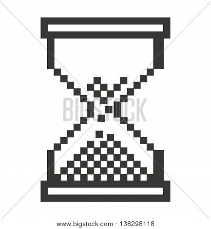 Computer mouse hourglass  pointer isolated icon design, vector illustration  graphic
