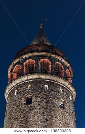 Galata Tower of Istanbul Historical Peninsula, Turkey