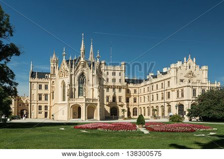 Lednice Chateau on summer day Czech Republic Europe