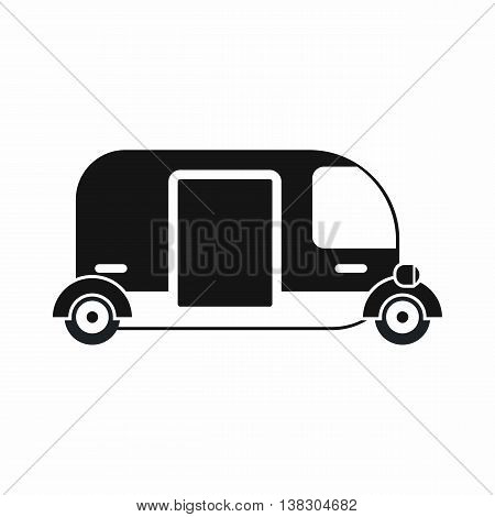 Thailand three wheel native taxi icon in simple style isolated vector illustration