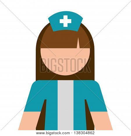 nurse avatar isolated icon design, vector illustration  graphic
