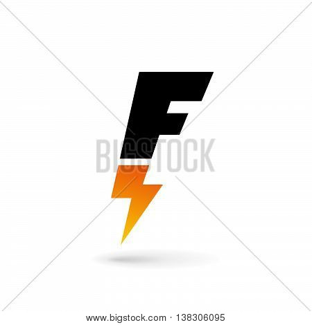 Letter F Lightning Logo Icon Design Template Elements