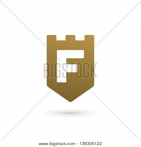 Letter F Shield Logo Icon Design Template Elements