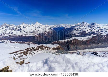 Swiss Alps Mountains Landscape Zermatt Switzerland