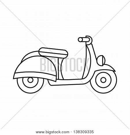 Motorbike icon in outline style isolated vector illustration