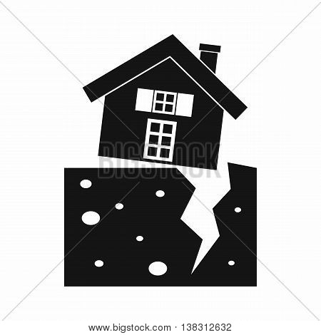 House after an earthquake icon in simple style isolated vector illustration