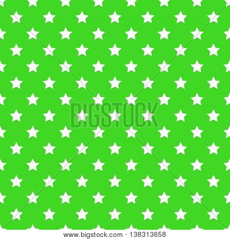 seamless pattern of stars. White stars on a green background. Vector. textile background packaging printing website