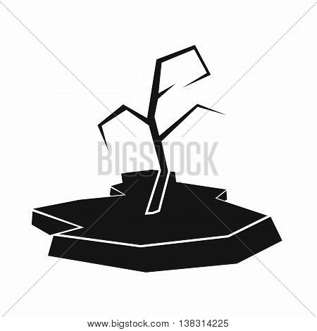 Drought icon in simple style isolated vector illustration