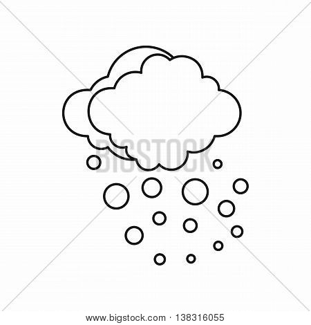 Cloud with hail icon in outline style isolated vector illustration