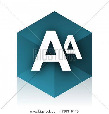 alphabet blue cube icon, modern design web element