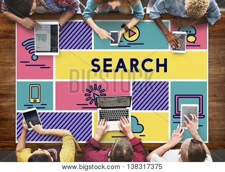 Search Find Data Exploration Browsing Concept