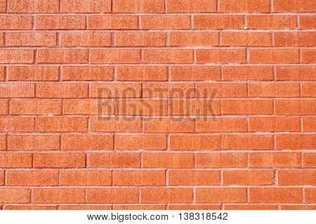 Background of brick wall from a building. Close up.