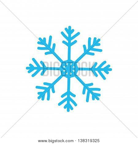 Winter concept represented by Snowflake icon. Isolated and flat illustration