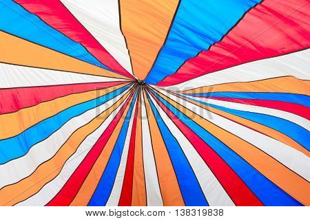 color top of tent with a lot of clothe