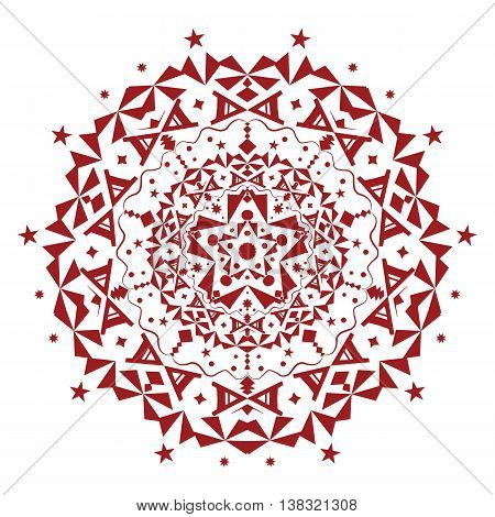 Vector ornament. Beautiful ornamental element. Geometric abstract