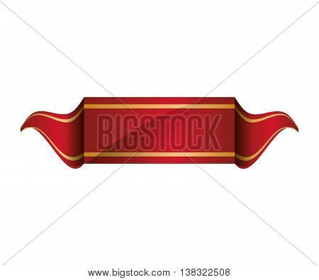 Label concept represented by ribbon icon. Isolated and flat illustration