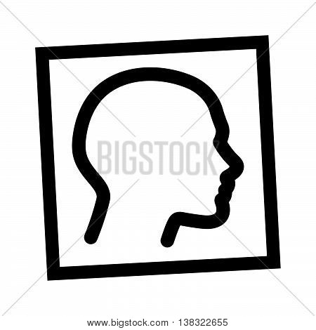 Claustrophobia concept, a man in the closed environment