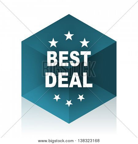 best deal blue cube icon, modern design web element