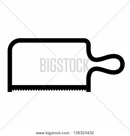 Coping saw ( shade picture ) on white
