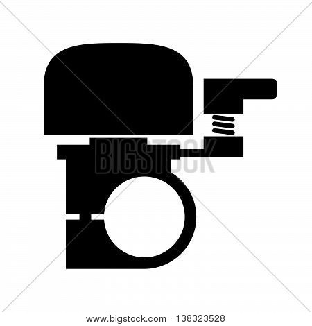 Bicycle bell ( shade picture ) on white