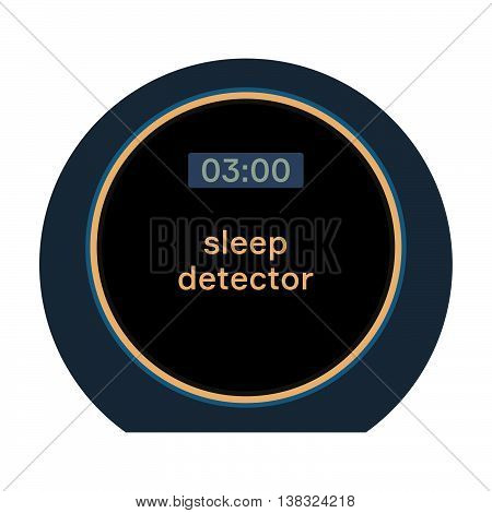 Sleep detector ( shade picture ) on white