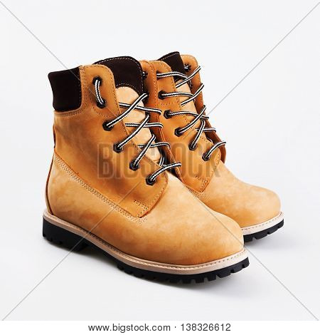 Brown Boots With Laces