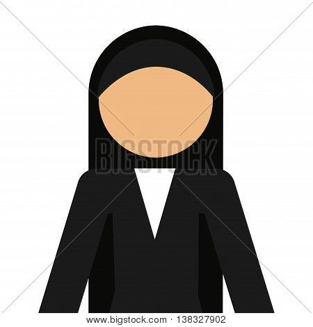 nun avatar isolated icon design, vector illustration  graphic