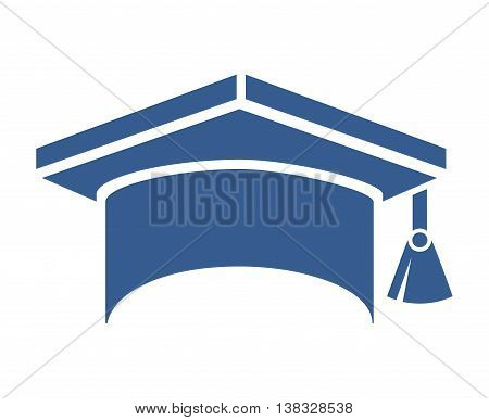 graduation hat isolated icon design, vector illustration  graphic