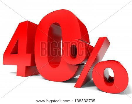 Red Forty Percent Off. Discount 40%.