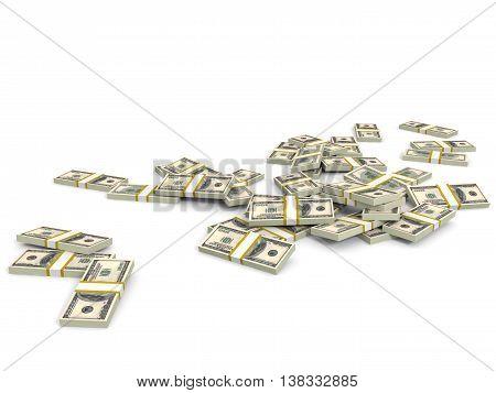 Money Heap. One Hundred Dollars.