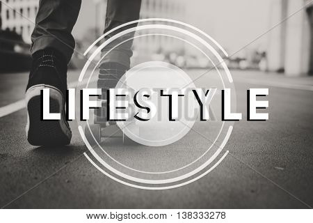 Skater Life Change Active Leisure Concept