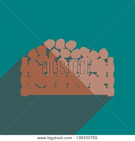 Flat icon with shadow of beet harvest. Vector illustration