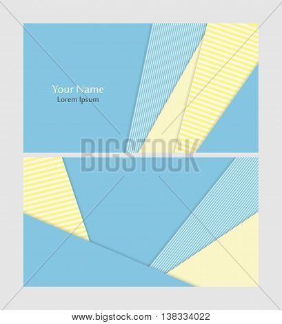 Vector business card template in material design style. Elements for design. Eps10 vector illustration