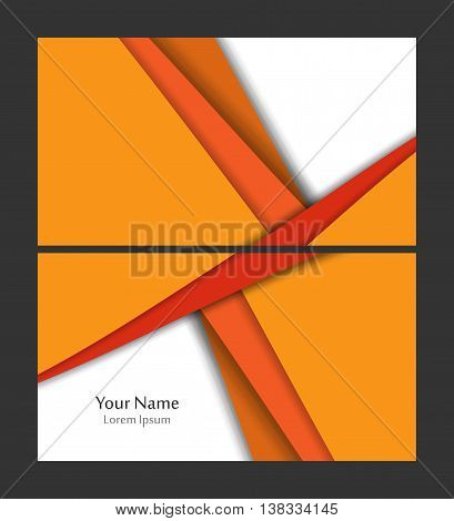 Vector business card template. Elements for design. Eps10 vector illustration