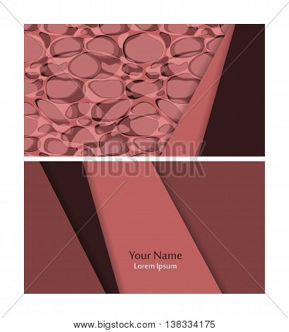 Vector business card template over seamless pattern. Elements for design. Eps10 vector illustration
