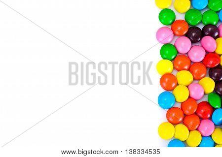 Sweet Bonbons Candy on White Background Studio Photo
