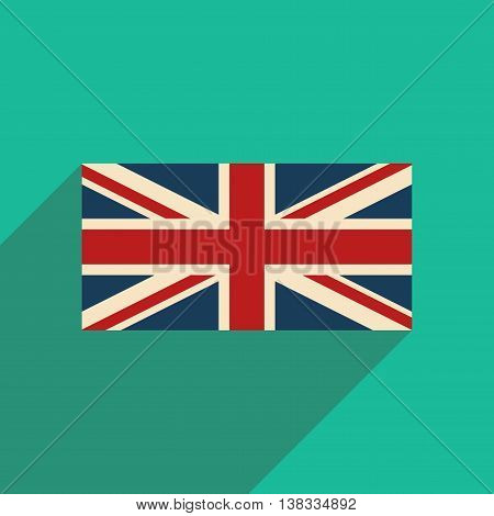 flat icon with long shadow British flag